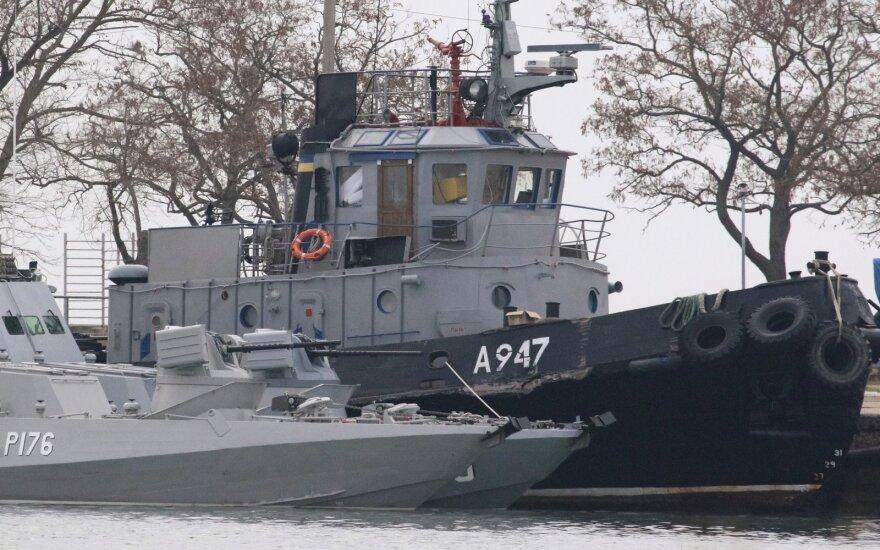 Incidentas Kerčės sąsiauryje padidino įtampą Rusijos ir Ukrainos santykiuose