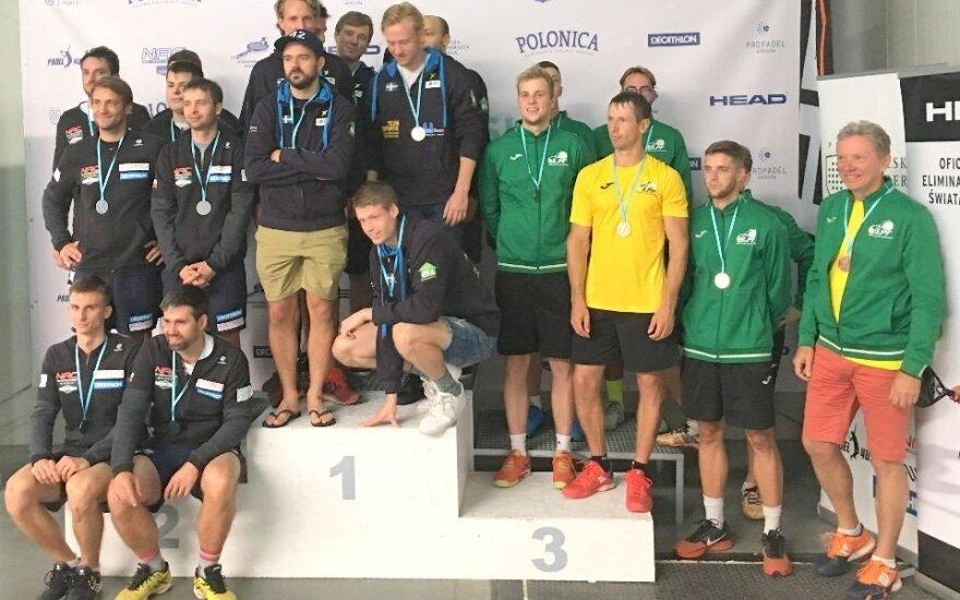 Pasaulio padelio čempionato atrankoje Lietuvos rinktinė iškovojo bronzą