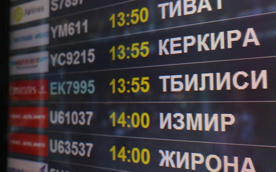 Rusija uždraudė Gruzijos oro bendrovių skrydžius į jos oro uostus