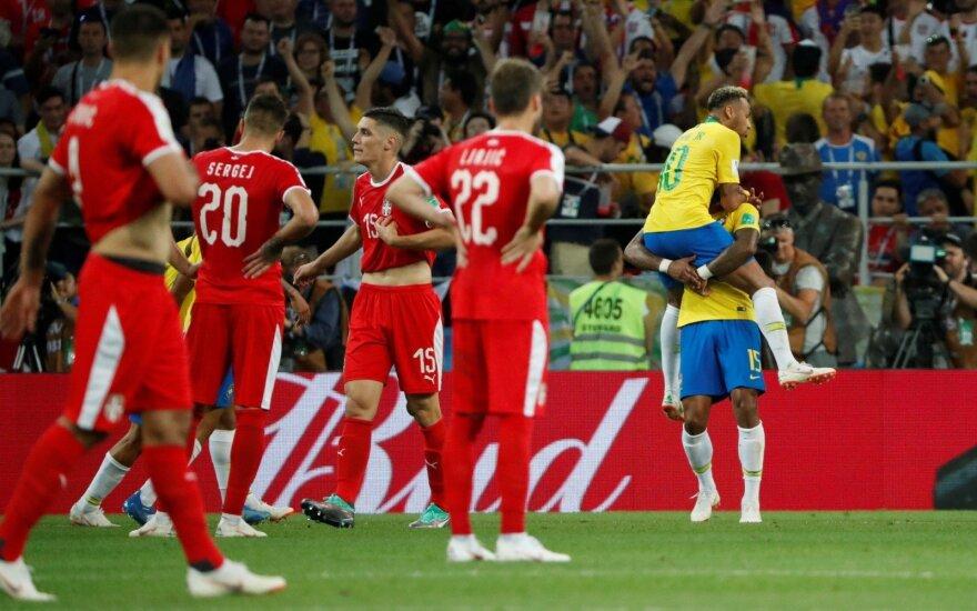 Brazilai užtikrintai žengė į kitą etapą – aiškios dar dvi atkrintamųjų poros