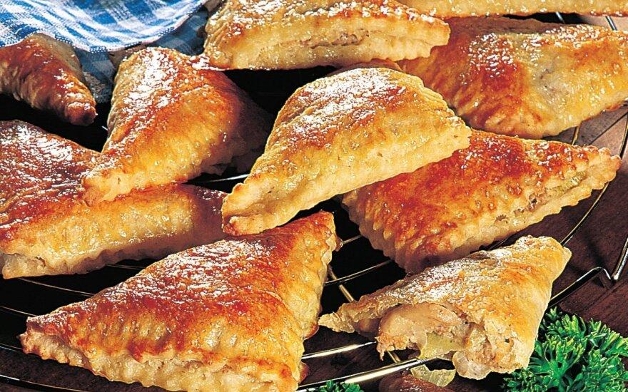 Grybų ir maltos mėsos pyragėliai