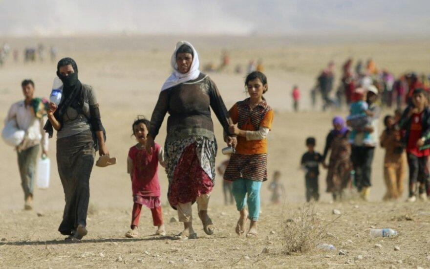 Jezidai bėga iš Irako