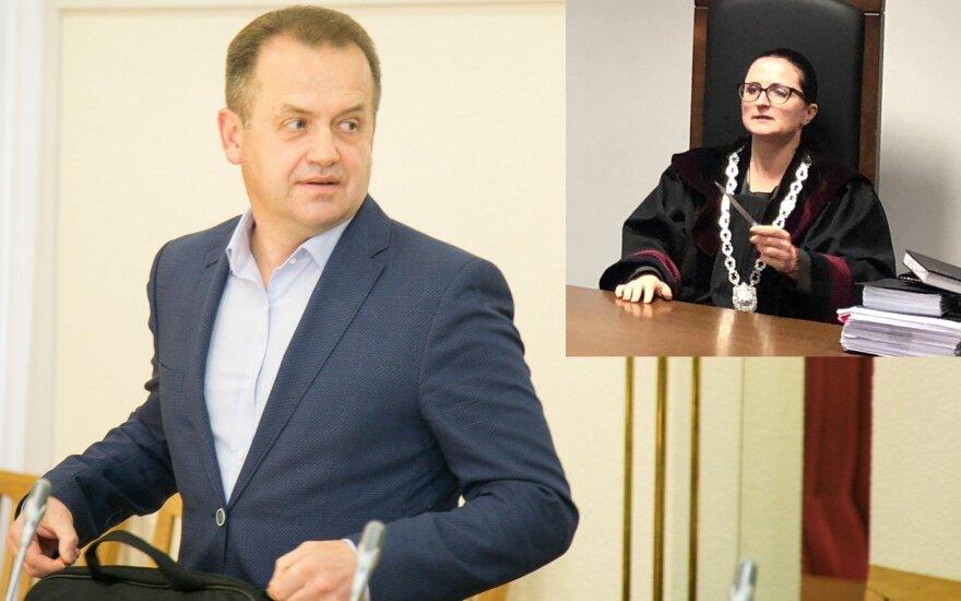 Artūras Skardžius ir teisėja Erika Stočkienė