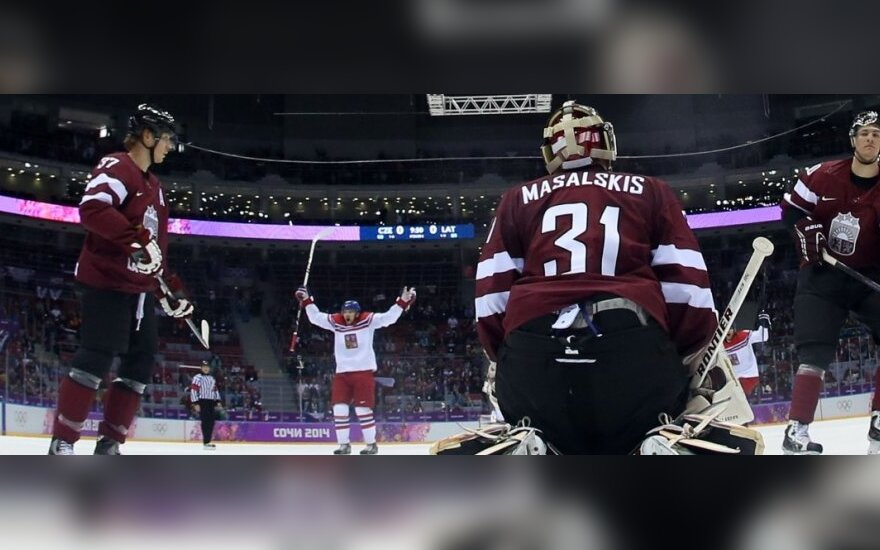Latvijos ledo ritulininkai Sočyje patyrė antrą nesėkmę iš eilės