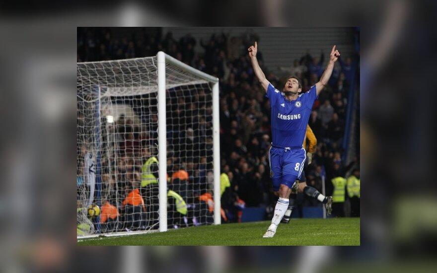"""Frankas Lampardas (""""Chelsea"""") pelnė 2 įvarčius"""