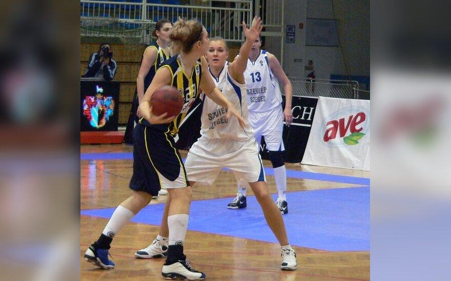 V.Sipavičiūtės ekipa pralaimėjo atidėtas FIBA Eurolygos turnyro rungtynes