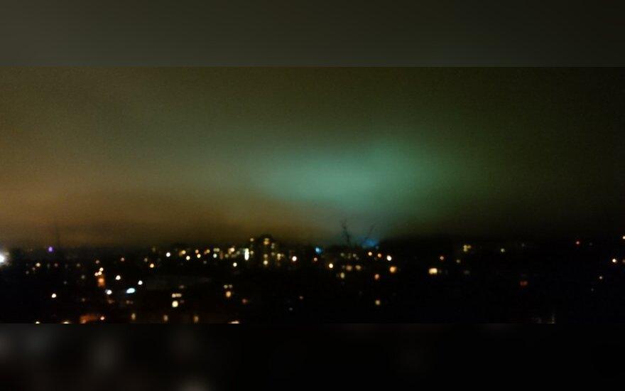 Vilniuje pastebėjo pašvaistę