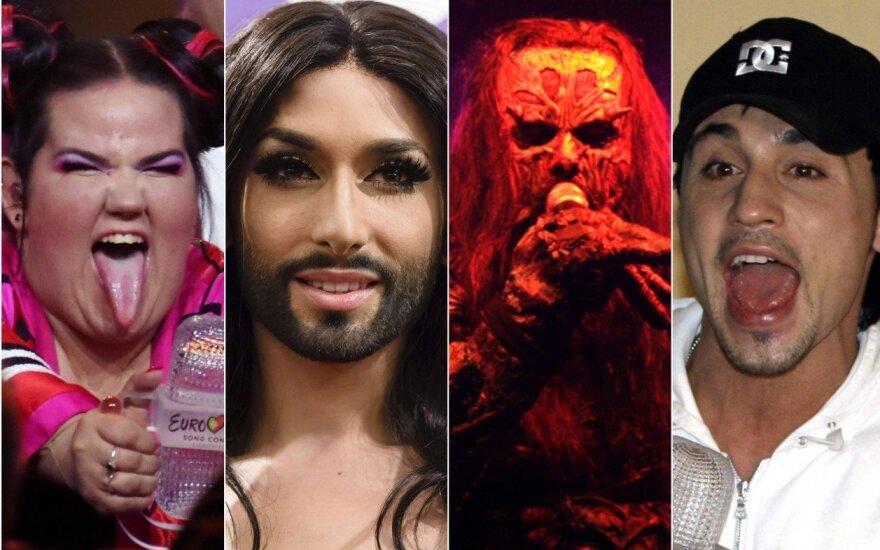 """""""Eurovizijos"""" laimėtojai bėgant metams"""