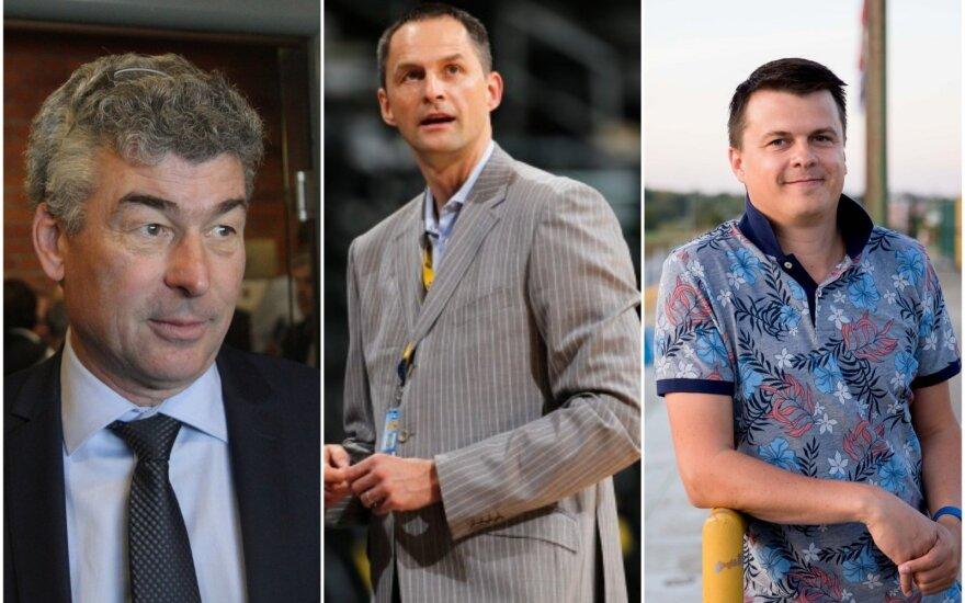 (iš kairės) Vidmantas Murauskas, Artūras Karnišovas, Mindaugas Nikoličius
