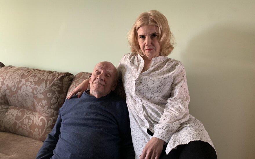 Bronislovas Genzelis su žmona Mėnule Muldaryte-Genzele