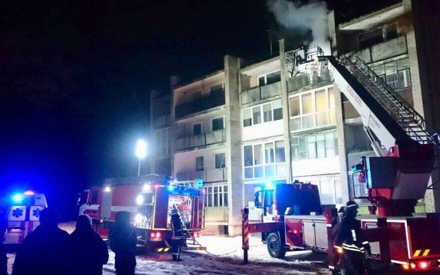 Siaubingas gaisras Ukmergės rajone