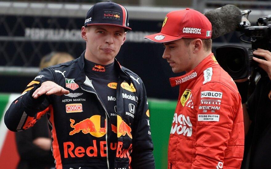 Maxas Verstappenas ir Charlesas Leclercas