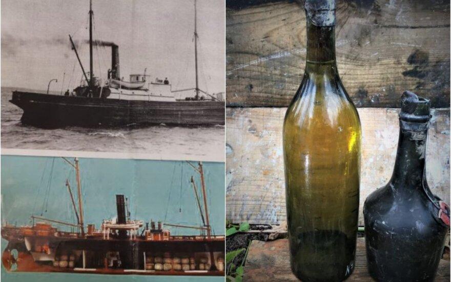 Iš Baltijos jūros ištraukta 900 butelių konjako ir benediktino