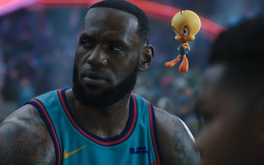 "LeBron James filme ""Kosminis krepšinis: nauja era"""