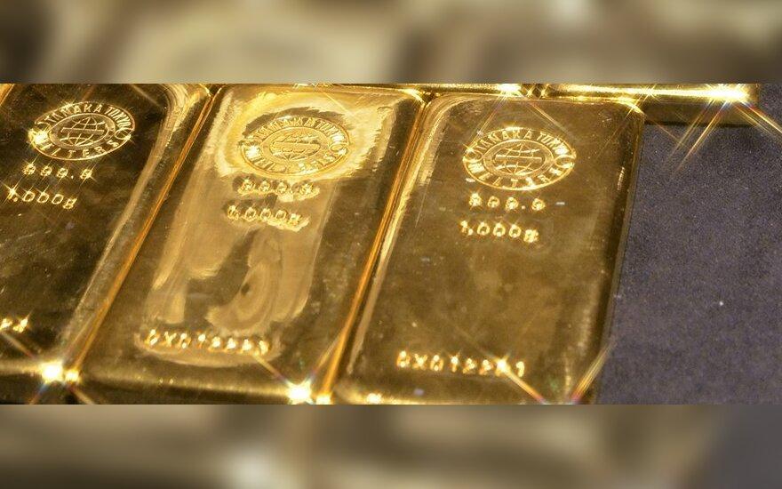 Pasaulinė aukso paklausa sumažėjo