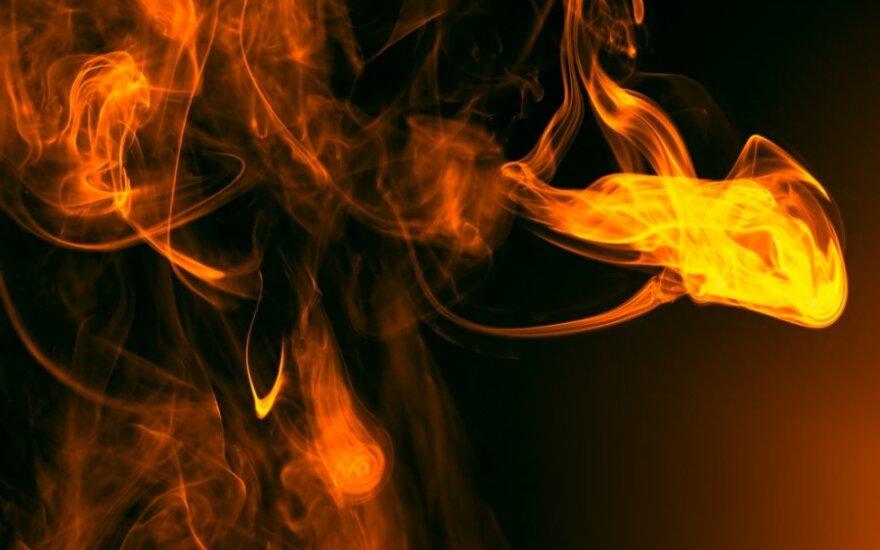 Vilniaus r. sudegė žmogus