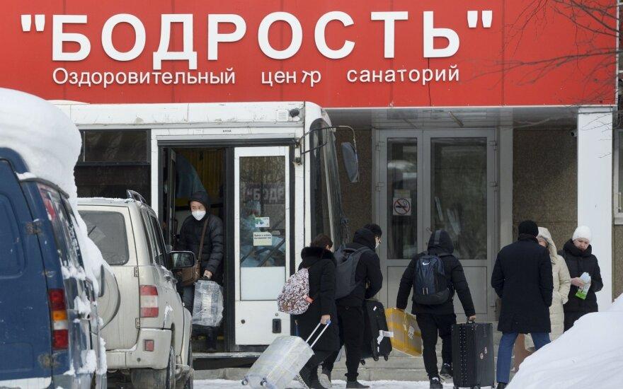 Sanatorija, kur laikomi iš Kinijos evakuoti rusai