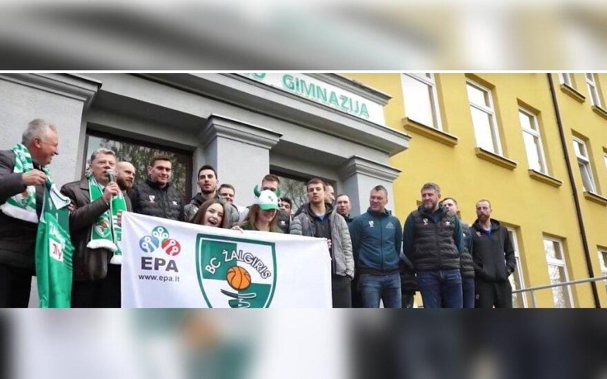 """Kauno """"Žalgiris"""" Kėlmės gimnazijoje"""