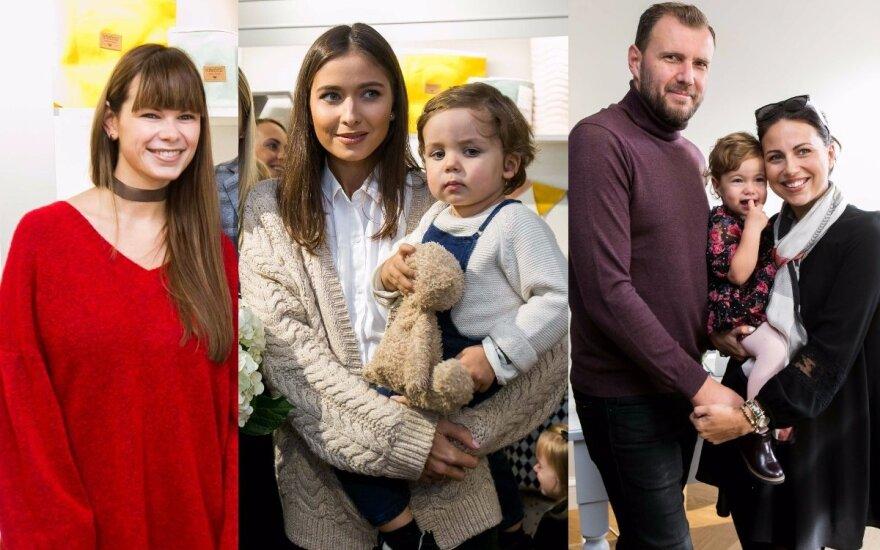 Laura Mazalienė, Patricija Žuromskytė su sūnumi, Julija Žižė su šeima