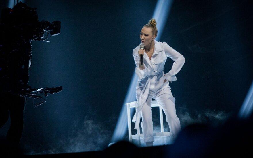 """Tai kas liko už kadro: sprogimas """"Eurovizijos"""" generalinėje repeticijoje vos nesužeidė Paula"""