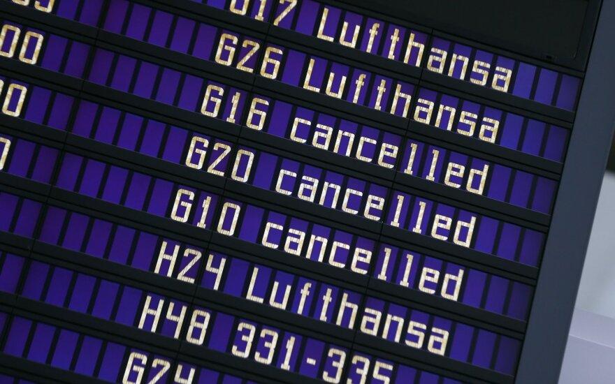 """Atšaukti ketvirtadienio """"Lufthansa"""" skrydžiai iš Vilniaus į Frankfurtą"""