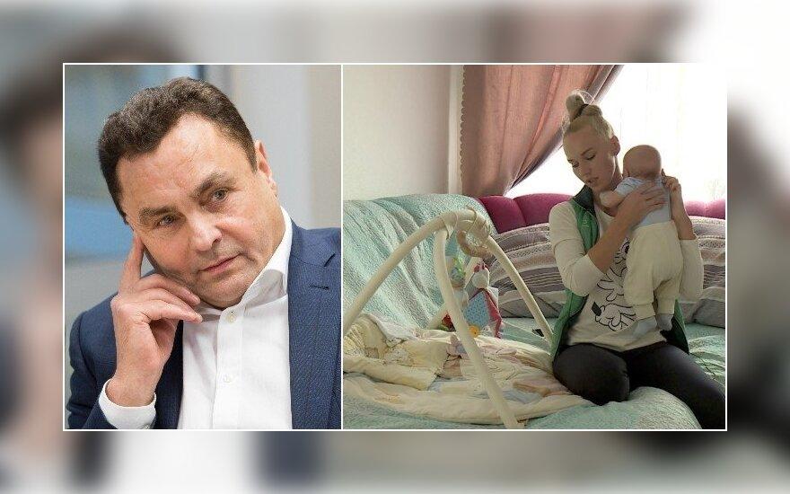 Seimo narys Petras Gražulis penktą kartą tapo tėvu?