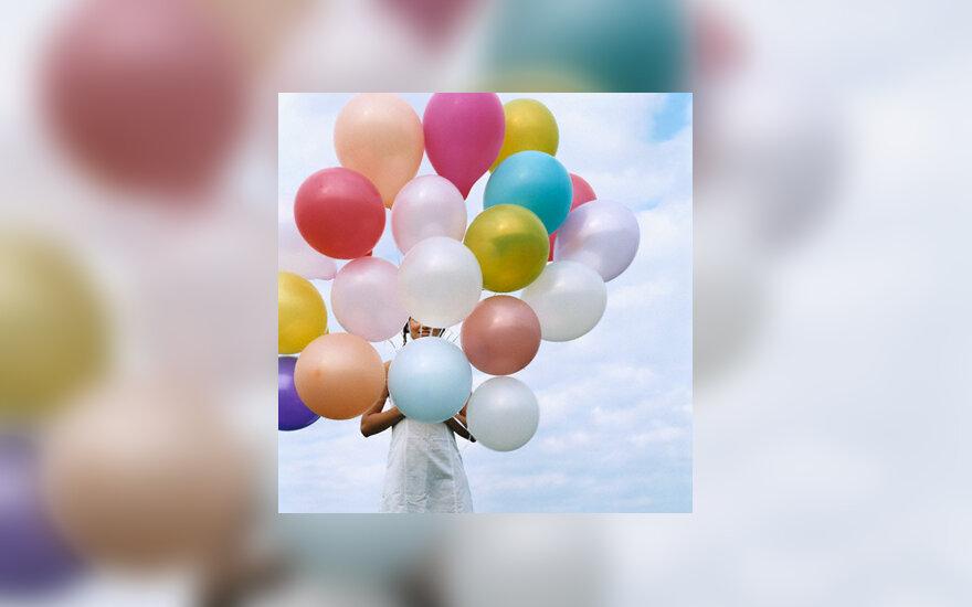 Gimtadienis, spalvos, šventė, balionai