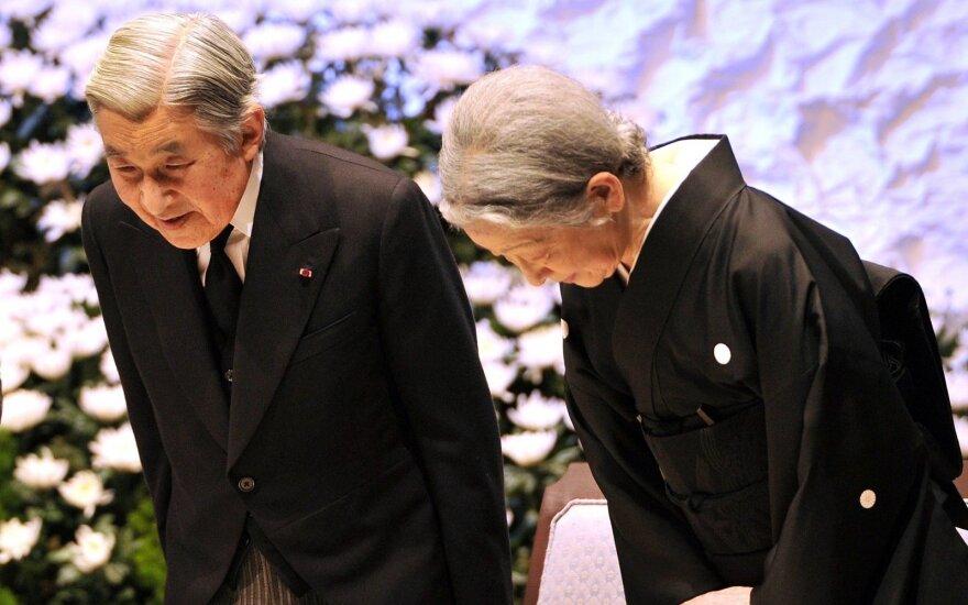 Japonijos imperatorius Akihito ir jo žmona Michiko