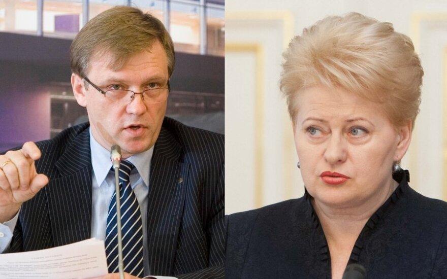 Zigmas Vaišvila, Dalia Grybauskaitė