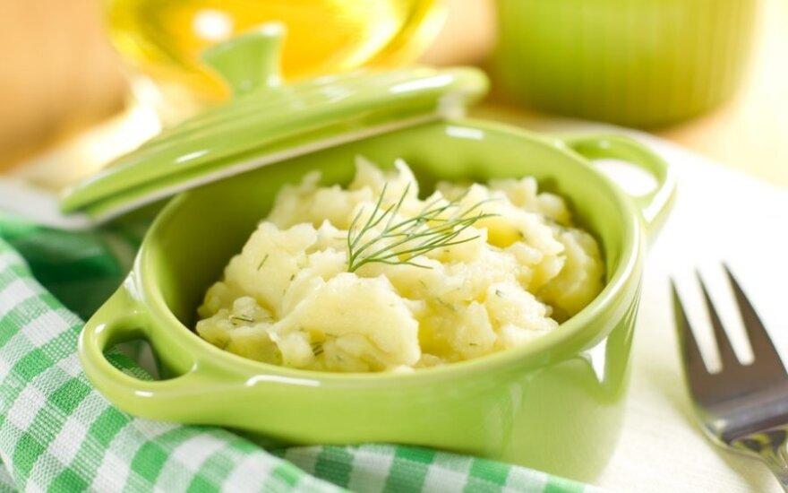 Bulvių piurė su porais