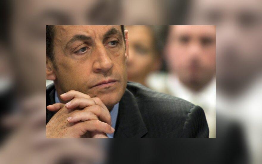 N.Sarkozy prakalbo apie pagalbą Graikijai
