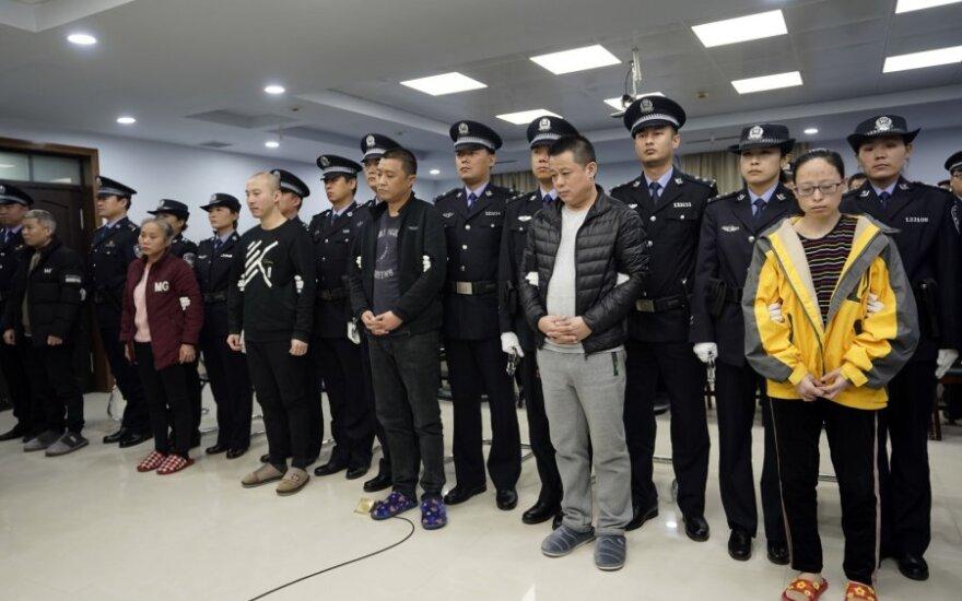Kinijoje po bendro tyrimo su JAV nuteisti devyni fentanilio prekeiviai