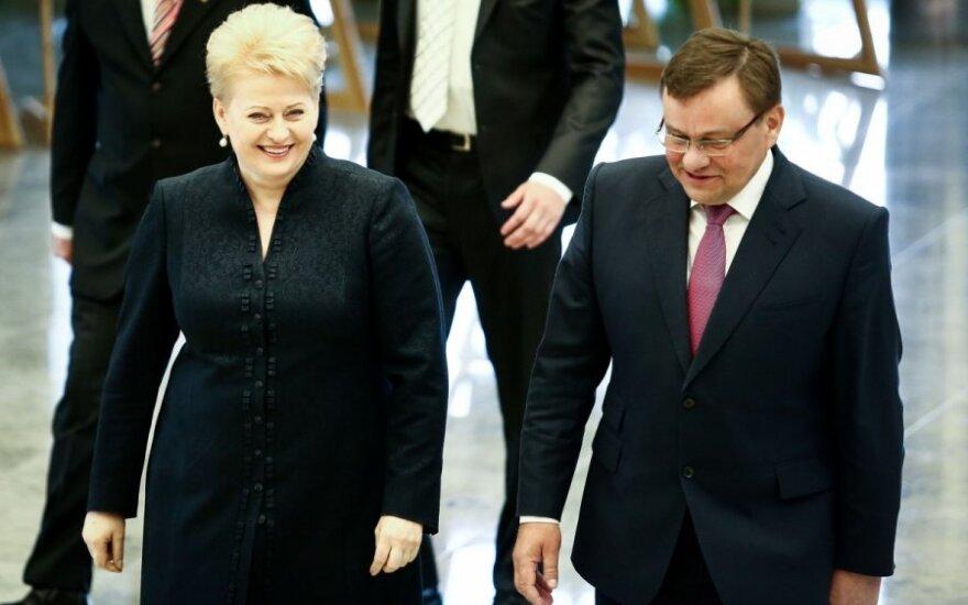 Dalia Grybauskaitė ir Vydas Gedvilas