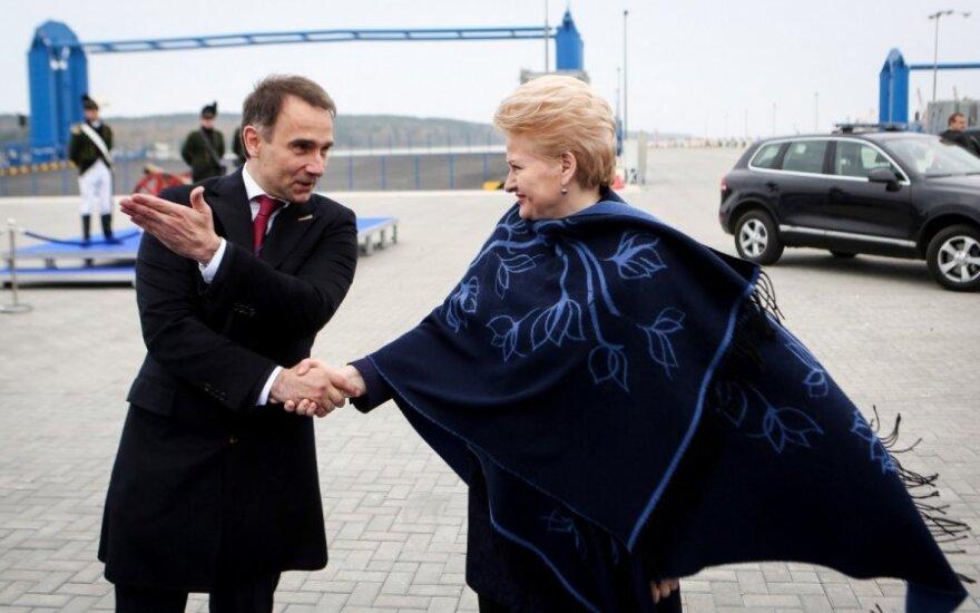 Rokas Masiulis ir Dalia Grybauskaitė