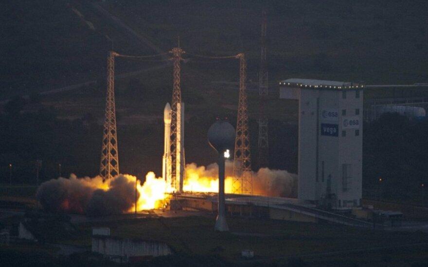 """Europos raketos """"Vega"""" su JAE palydovu startas buvo nesėkmingas"""