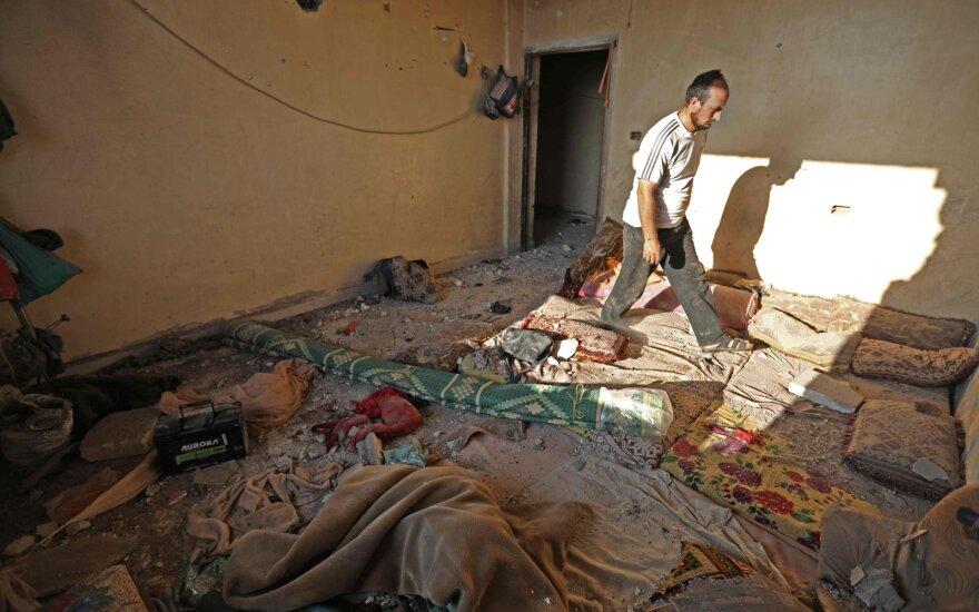 Šiaurės Sirijoje sprogus užminuotam automobiliui žuvo 11 civilių