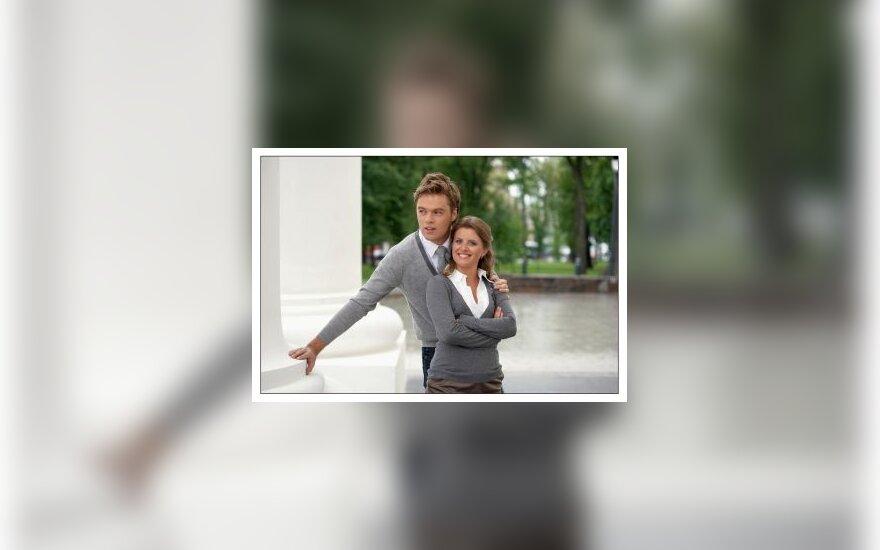 """Laidos """"Labas rytas"""" vedėjai Ignas Krupavičius ir Guoda Pečiulytė"""