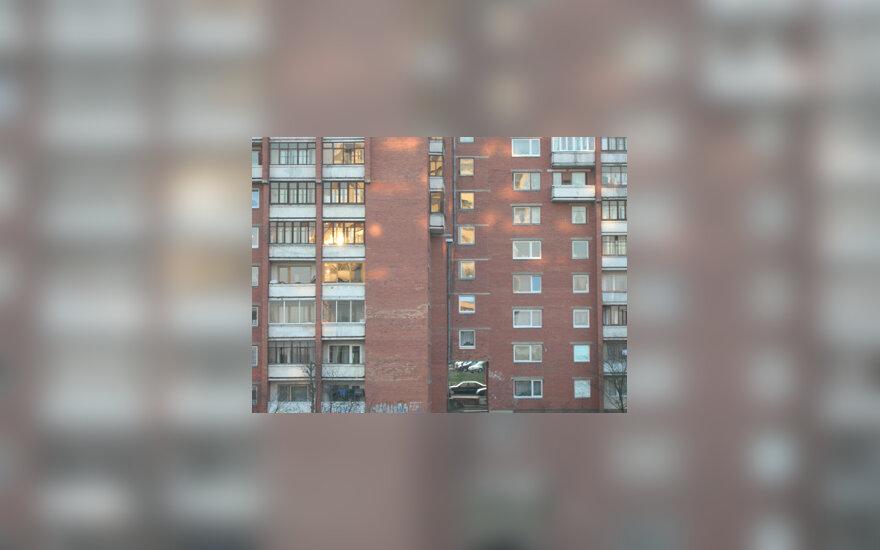 Namas, daugiabutis, pastatas, būstas, statybos, langai