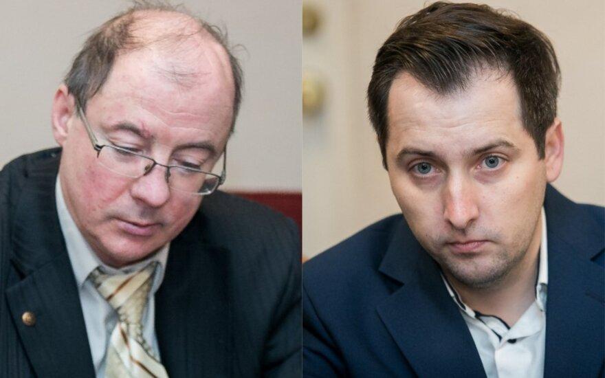Artūras Šukevičius (kairėje) ir Linas Lobeckis