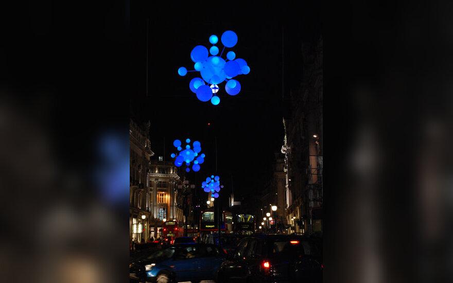 Kalėdinės dekoracijos Londone