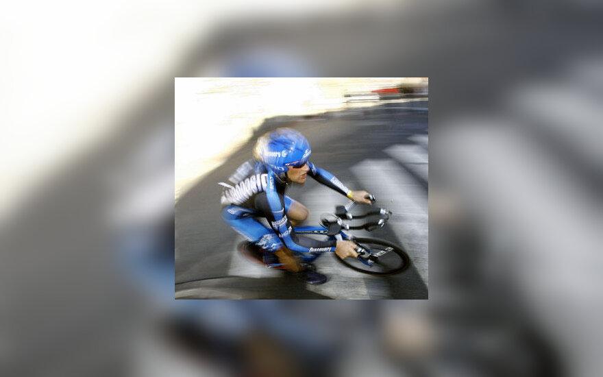 """Tomas Vaitkus (""""Discovery"""") lenktynių Paryžius - Nica prologe"""