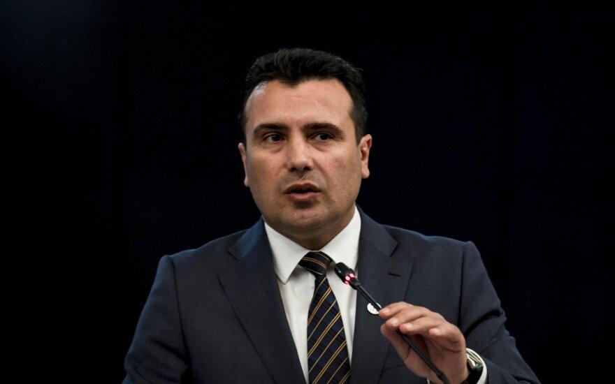 Makedonijos premjeras žada ir toliau siekti pakeisti šalies pavadinimą