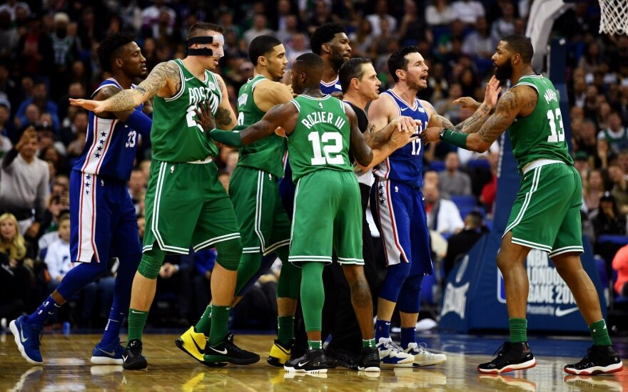Celtics ir 76ers susistumdymas