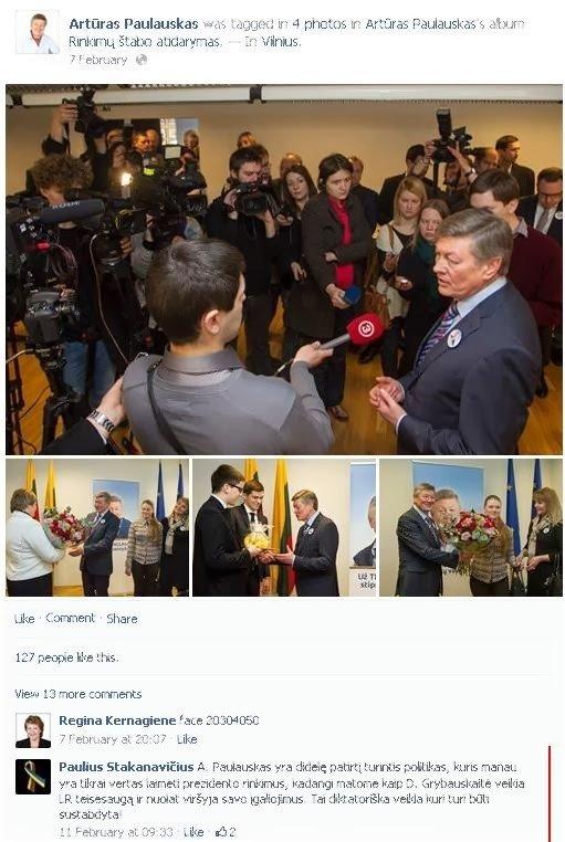 A. Paulausko Facebook