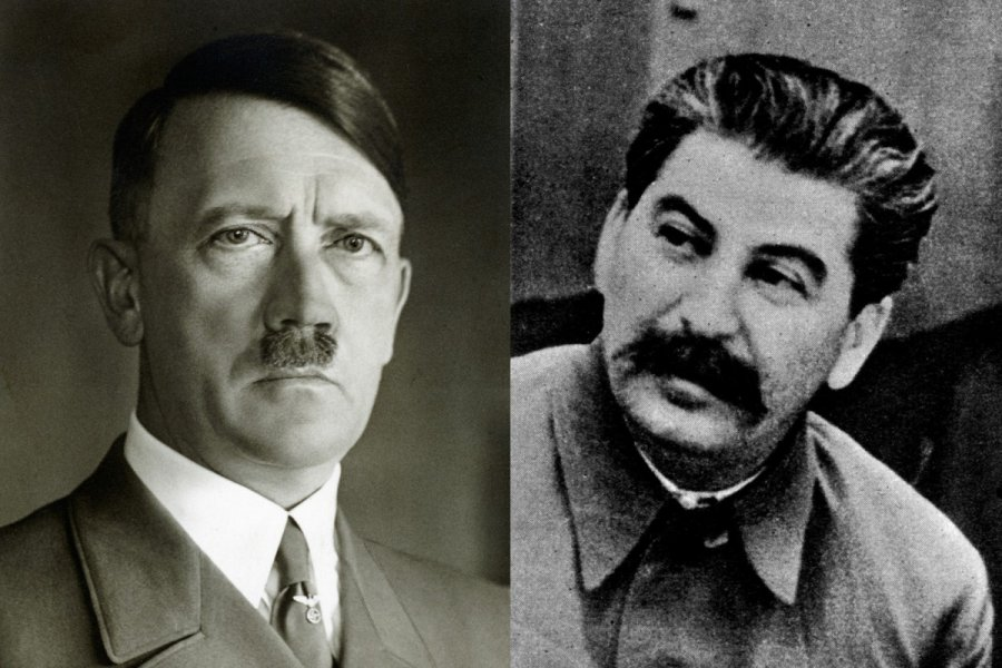 the similarities and differences between germans hitler and russias stalin