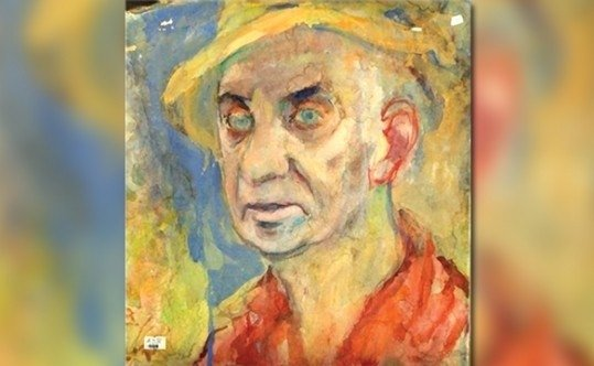 Artwork from the David Labkovski exhibition at the Los Angeles Museum of the Holocaust