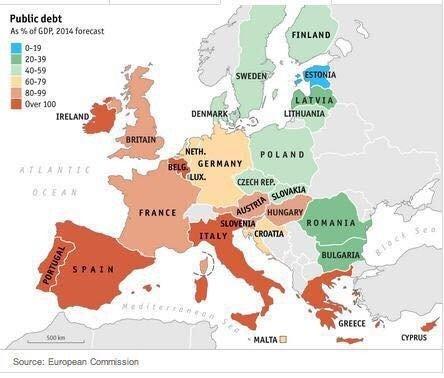 Dłużnicy w Europie