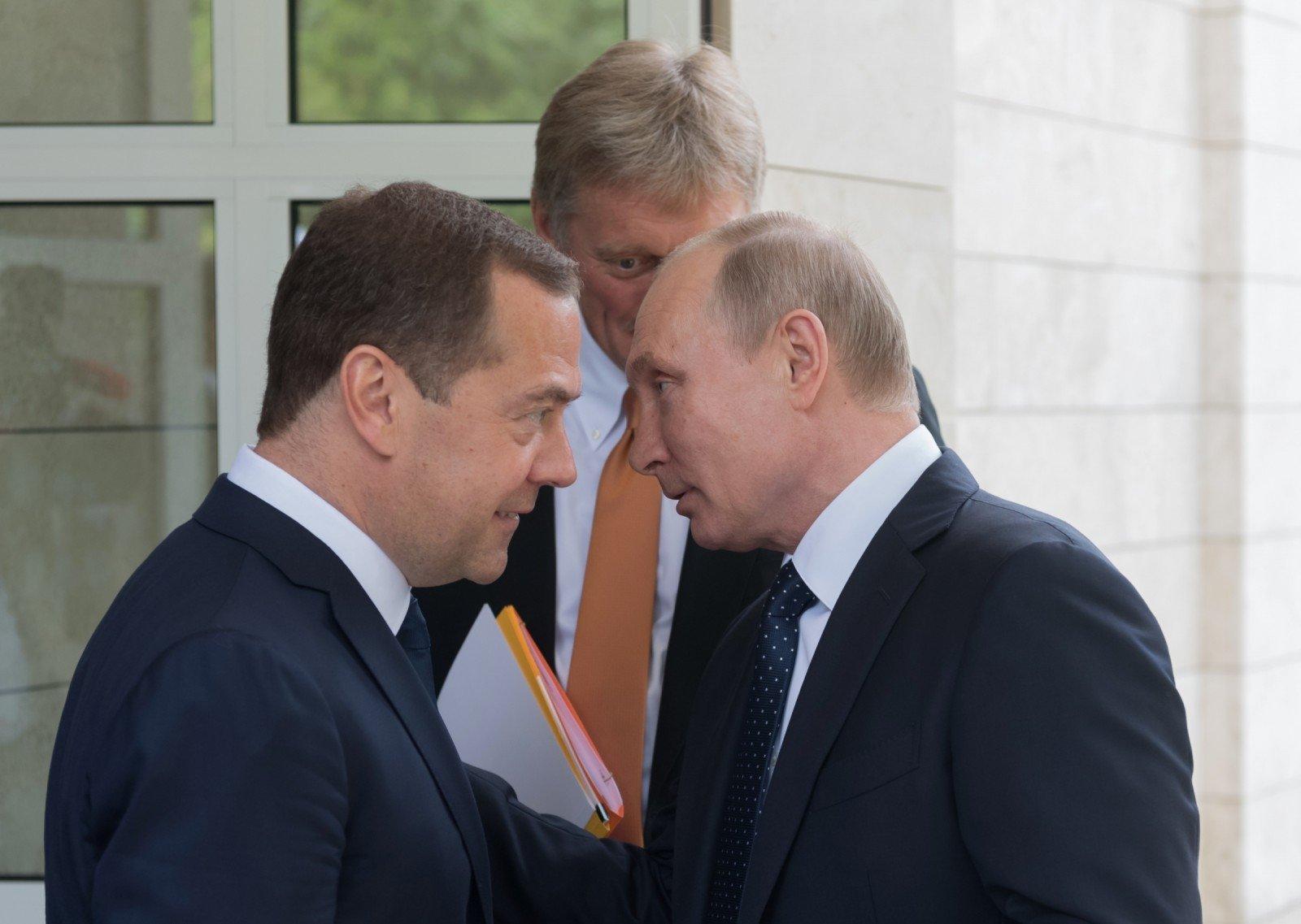 Dmitrijus Medvedevas Vladimiras Putinas