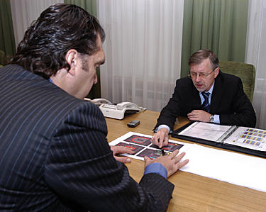 Arvydas Sabonis ir Gediminas Kirkilas
