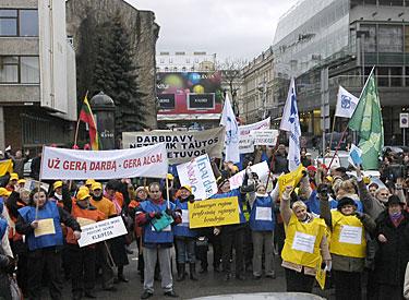 Vilniuje protestuoja darbuotojai